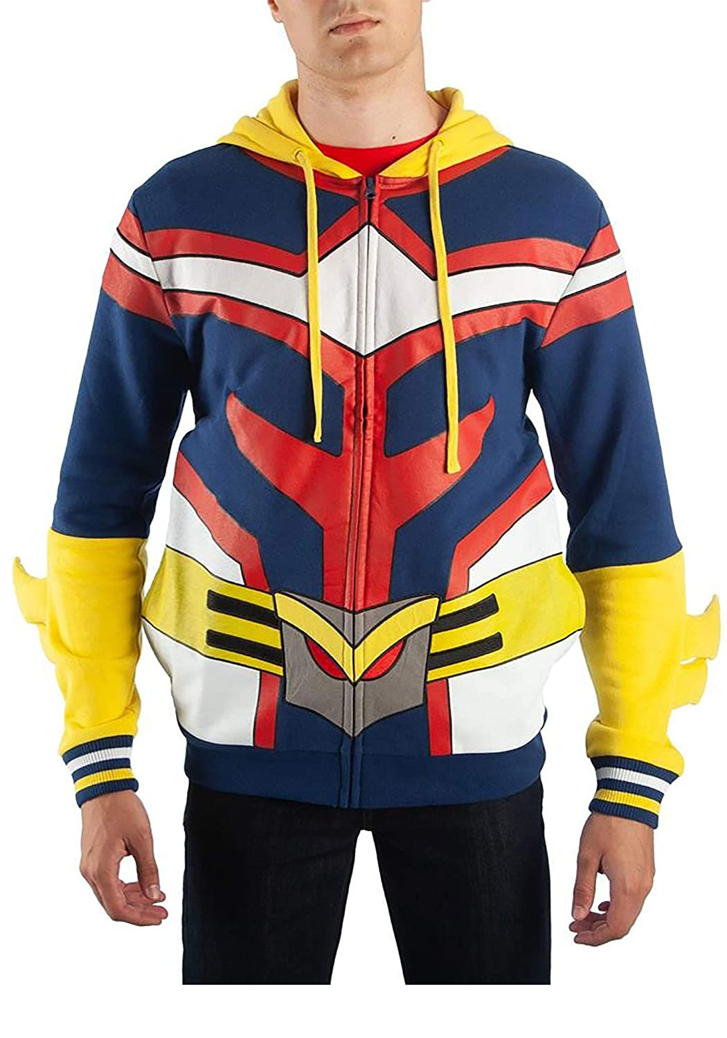 Amazon.com: Bioworld My Hero Academia All Might Character Hoodie: Clothing