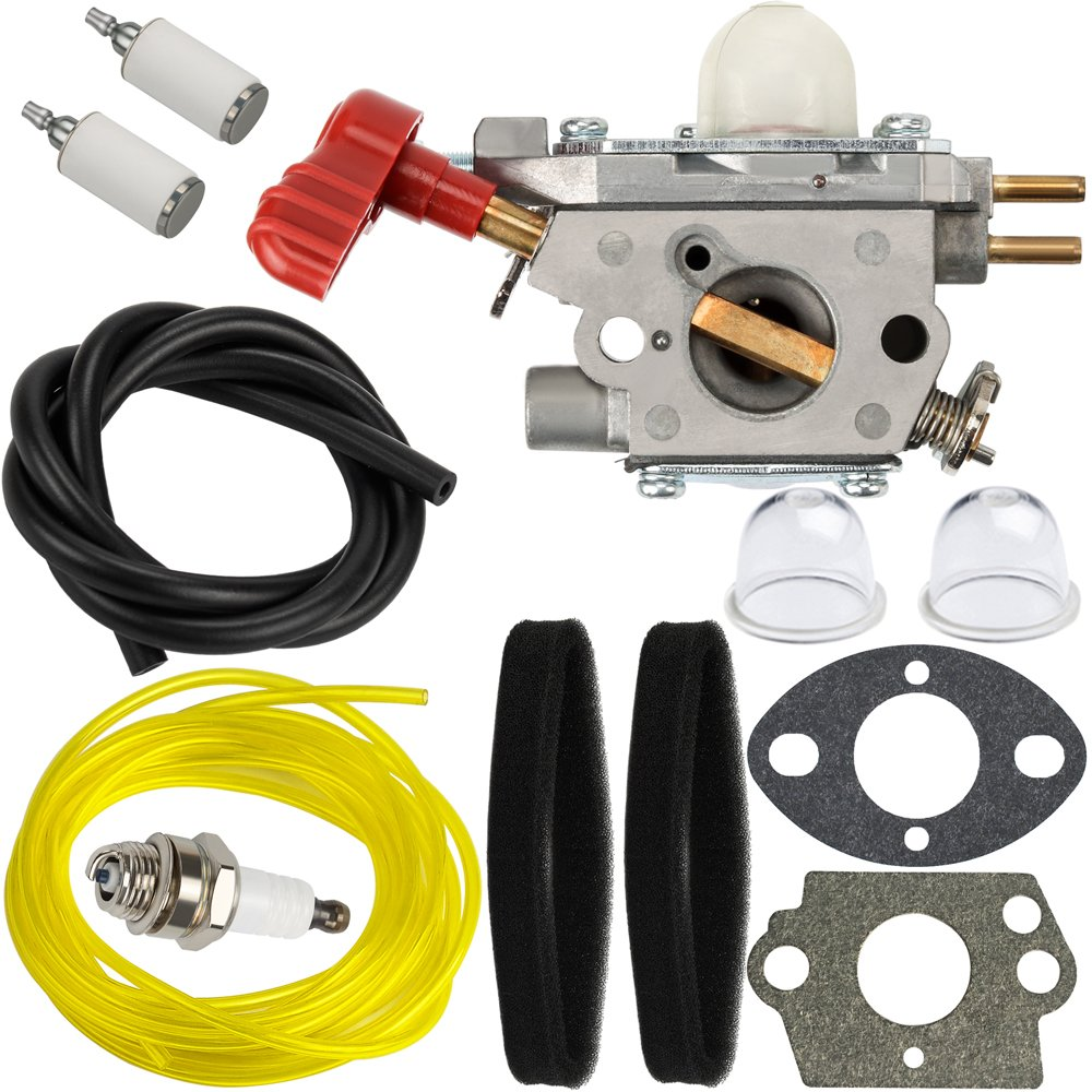 HIPA C1U-P27 Carburetor + Tune Up Kit Air Filter for Craftsman 316791200 316791201 316791600 316794030 316794450 316731200 316740800 316740820 316740870 Trimmer Weed Eater