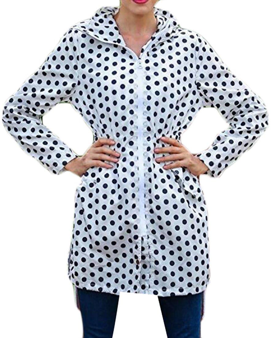 Cruiize Womens Lightweight Hooded Waterproof Active Outdoor Rain Jacket 4 XS