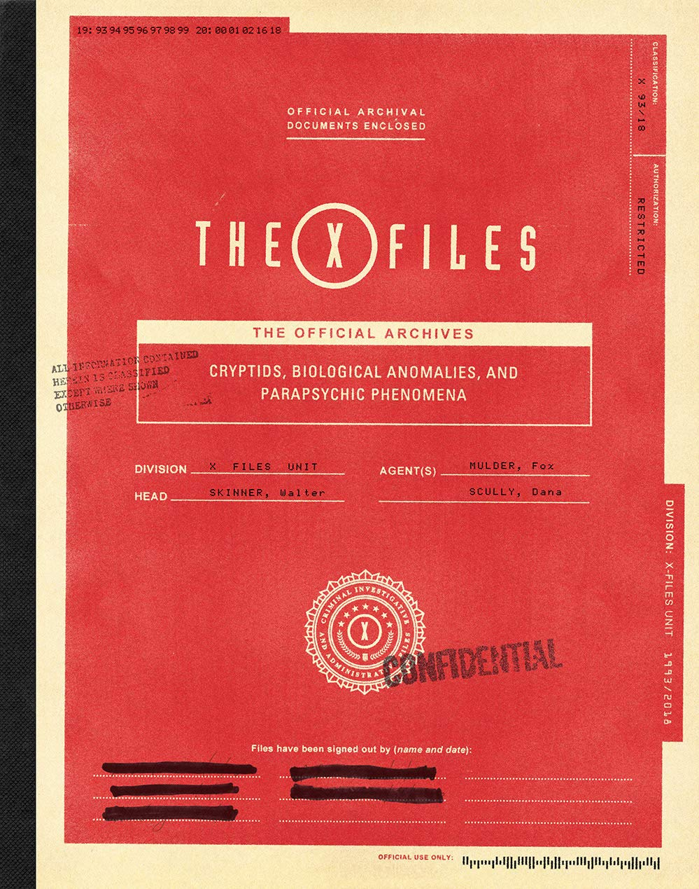 The X-Files: The Official Archives: Cryptids, Biological Anomalies, and Parapsychic Phenomena
