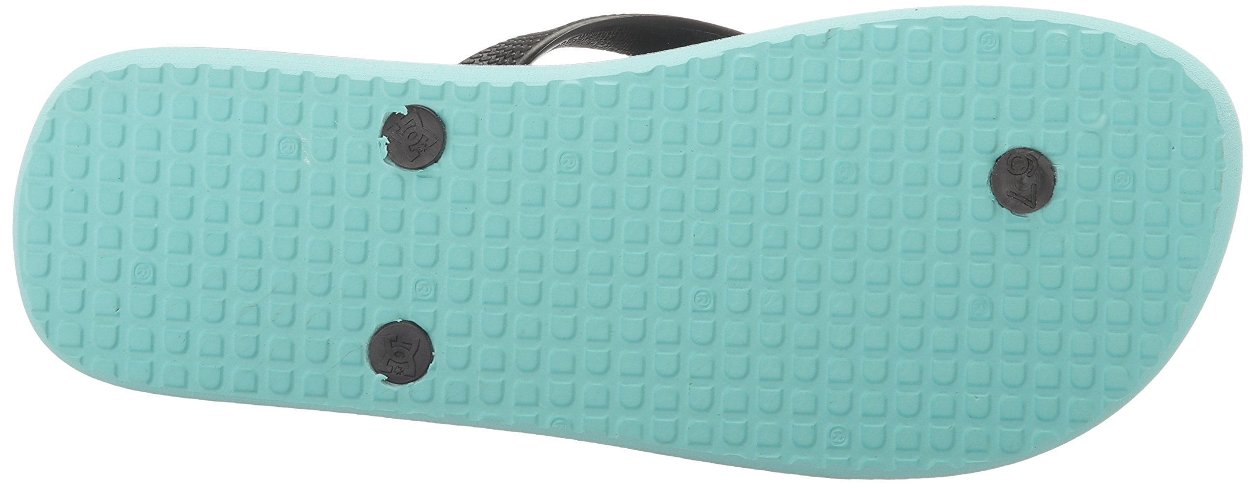 DC Girls' Spray Flip Flop, Turquoise, 6 M US Little Kid by DC (Image #3)