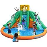 Magic Time Twin Peaks Kids Inflatable Splash Pool Backyard Water Slide Park