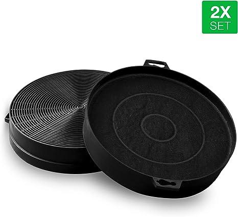 Filtro de carbón como Bosch 00353121 210 mm de diámetro para campana extractora, 2 unidades: Amazon.es: Grandes electrodomésticos