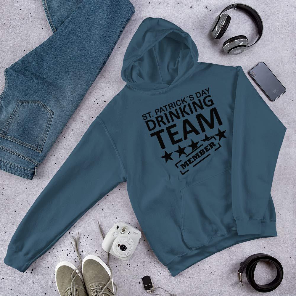 Hooded Sweatshirt st Patrick/´s Day Drinking Team Member T-Shirts Men/_s Premium T-Shirt Indigo Blue
