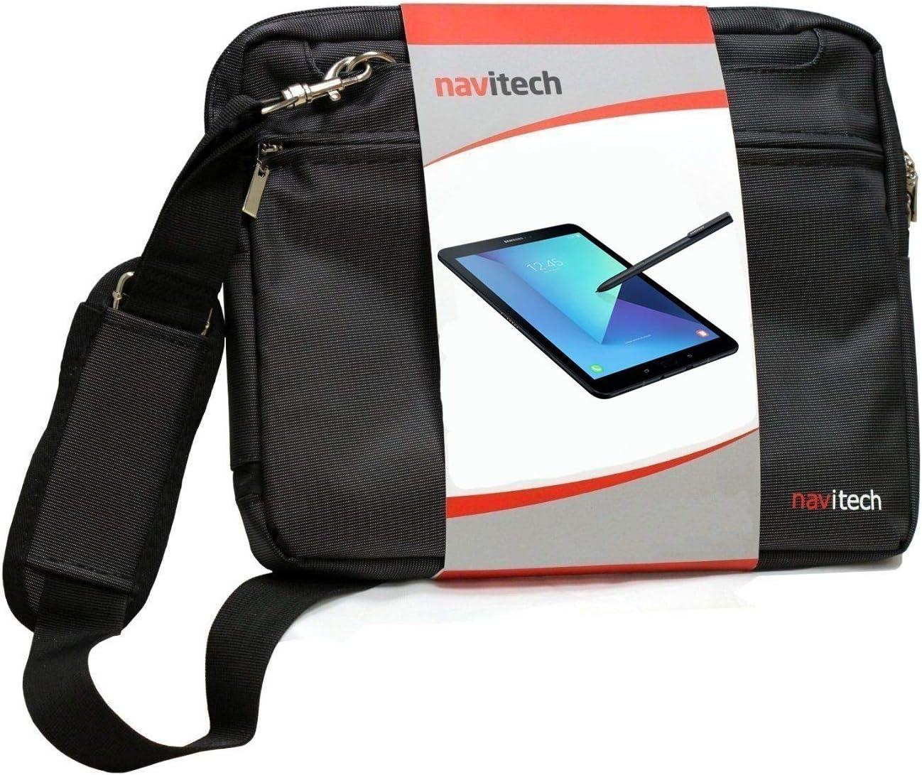 Navitech Black Sleek Premium Water Resistant Shock Absorbent Carry Bag Case Compatible with The LG G Pad F 8.0 | LG G Pad V495 | LG G Pad X 8.0 V520 | LG GPad X2 8.0 Plus V530 | LG G Pad V400