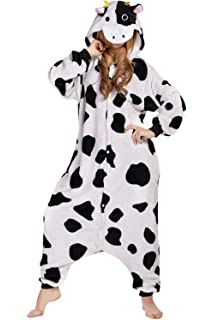 NEWCOSPLAY Cow Costume Sleepsuit Adult Pajamas
