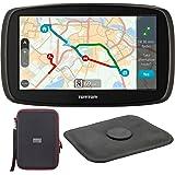 TomTom GO 60S Automotive GPS Navigation Device (1FC6.019.00) + PocketPro XL Hardshell Case for 7-Inch Tablets + Universal Nav-Mat 4 Portable GPS Dash Mount