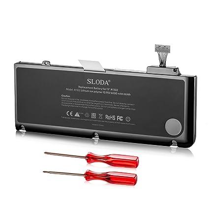 """SLODA Batería de Repuesto de Portátil para Apple Macbook Pro 13"""" A1322 (A1278 Mid"""