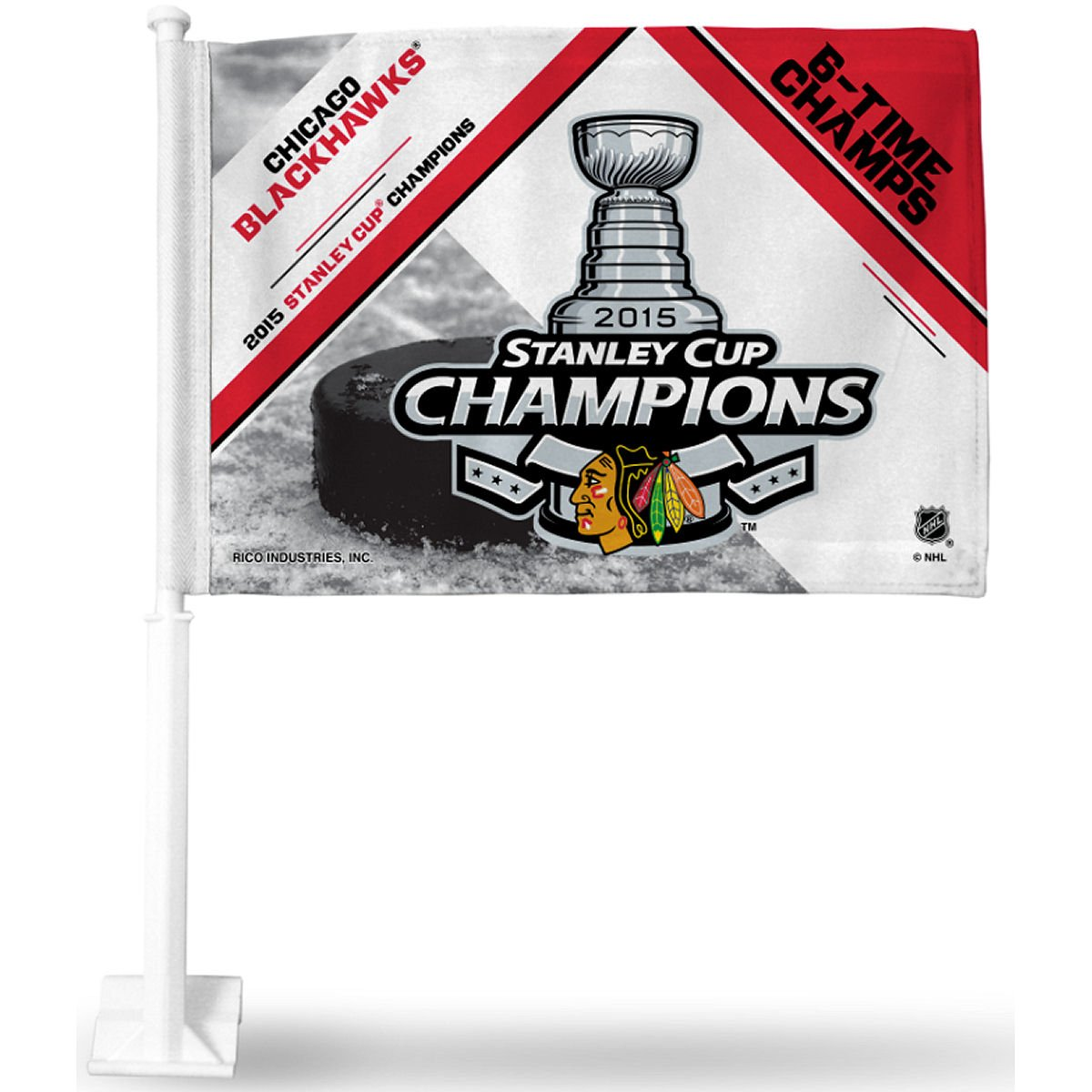 NHL 2015 Stanley Cup Champion Car Flag, 19'', White