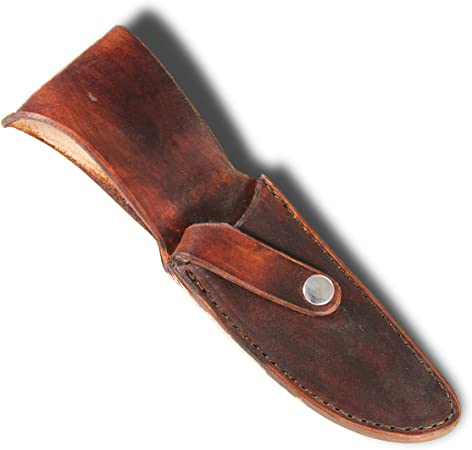 """Finished Sheath Style #3 for knives with blades up to 1 3//4"""" w Brown Leather"""
