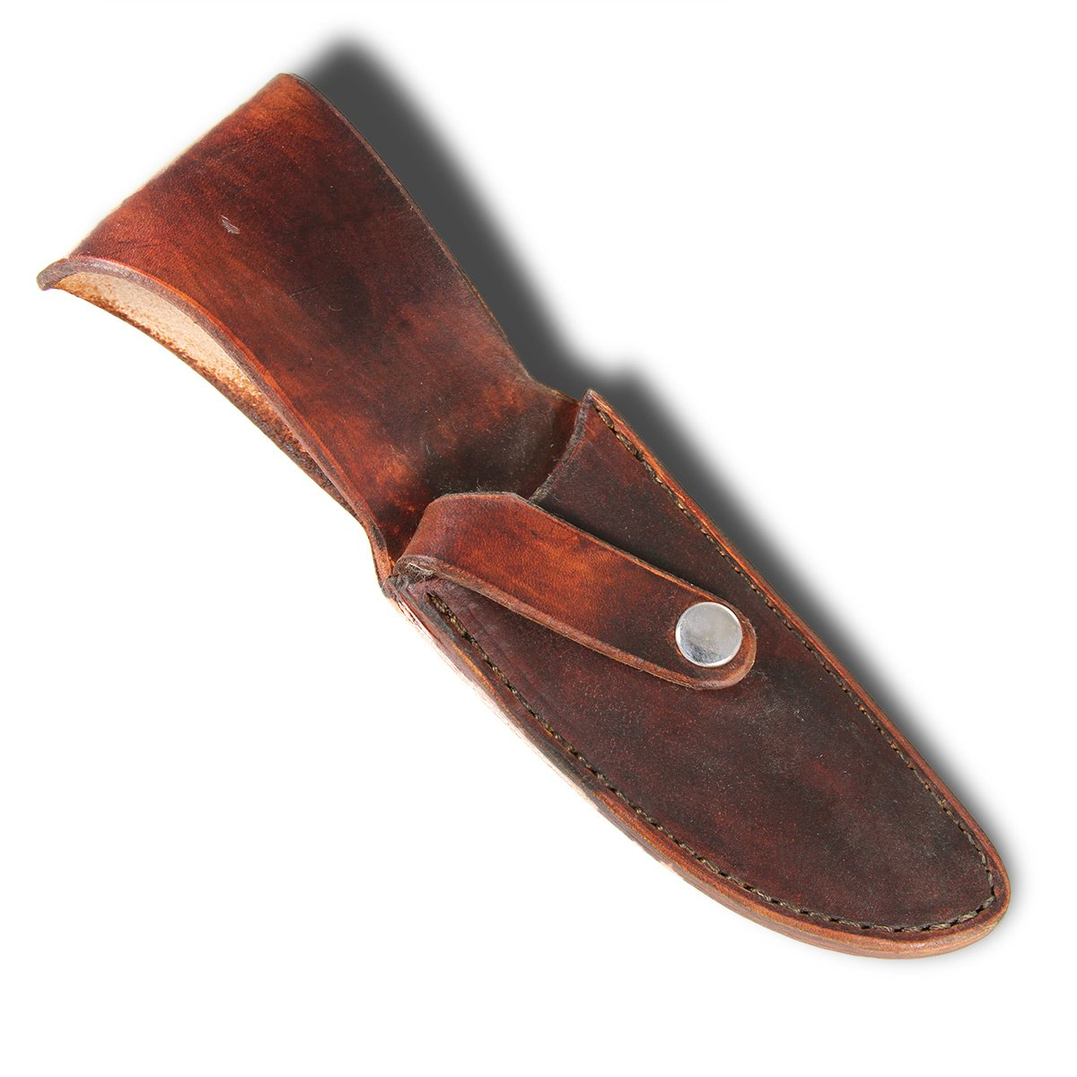 Finished Sheath Style #8 - Brown Leather - for knives with blades up to 1 1/4'' x 4 1/4'' by MKS Leatherworks