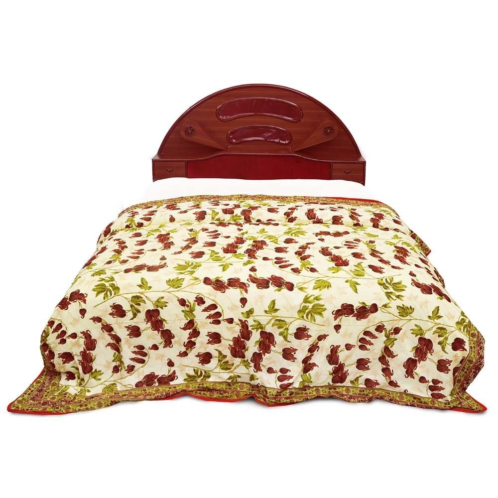 Little India Ethnic Floral Print Multicolor Double Bed AC Dohar 303 by Little India (Image #2)