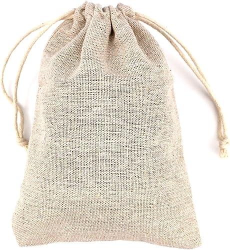 Image ofRUBY- 50 Bolsa de Lino, bolsitas de Tela, Saco arpillera, Bolsas para el Bricolaje, artesanales, para popurrí, reuniones, Bodas, Son fáciles de Cerrar y Abrir