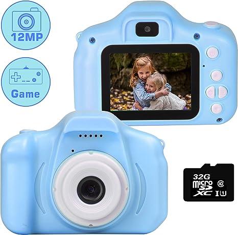le-idea Cámara para niños Cámara de Fotos Digital 2 Objetivos ...