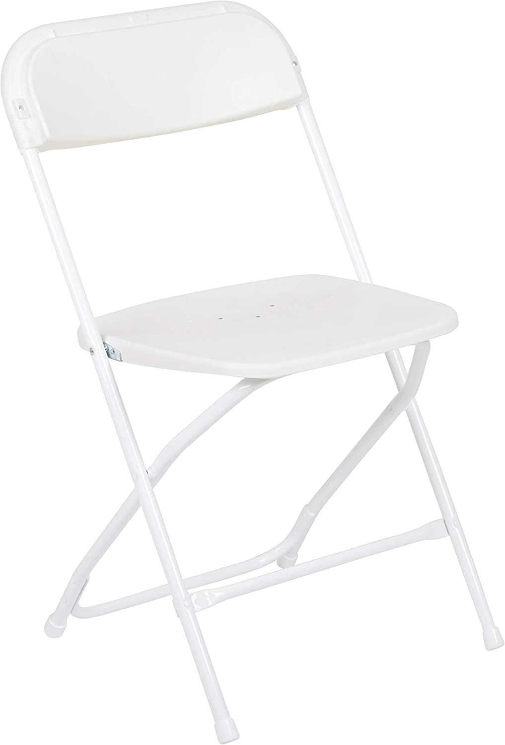 Flash Furniture Hercules Series 800-Pound Premium Plastic Folding Chair, White