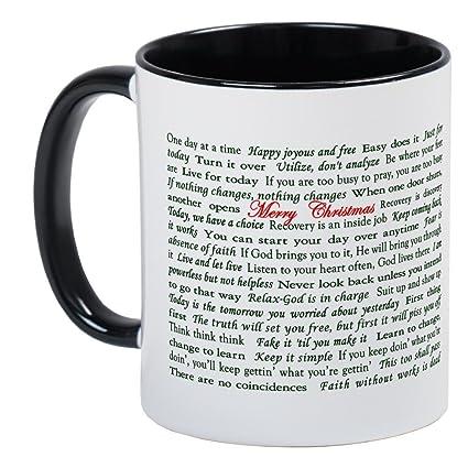 CafePress   Merry Christmas Slogan Card Mug   Unique Coffee Mug, Coffee Cup
