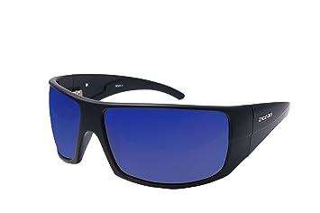 Ocean Sunglasses Brasilman - lunettes de soleil polarisées - Monture : Noir Mat - Verres : Revo Bleu (18301.2) YcC9SZL