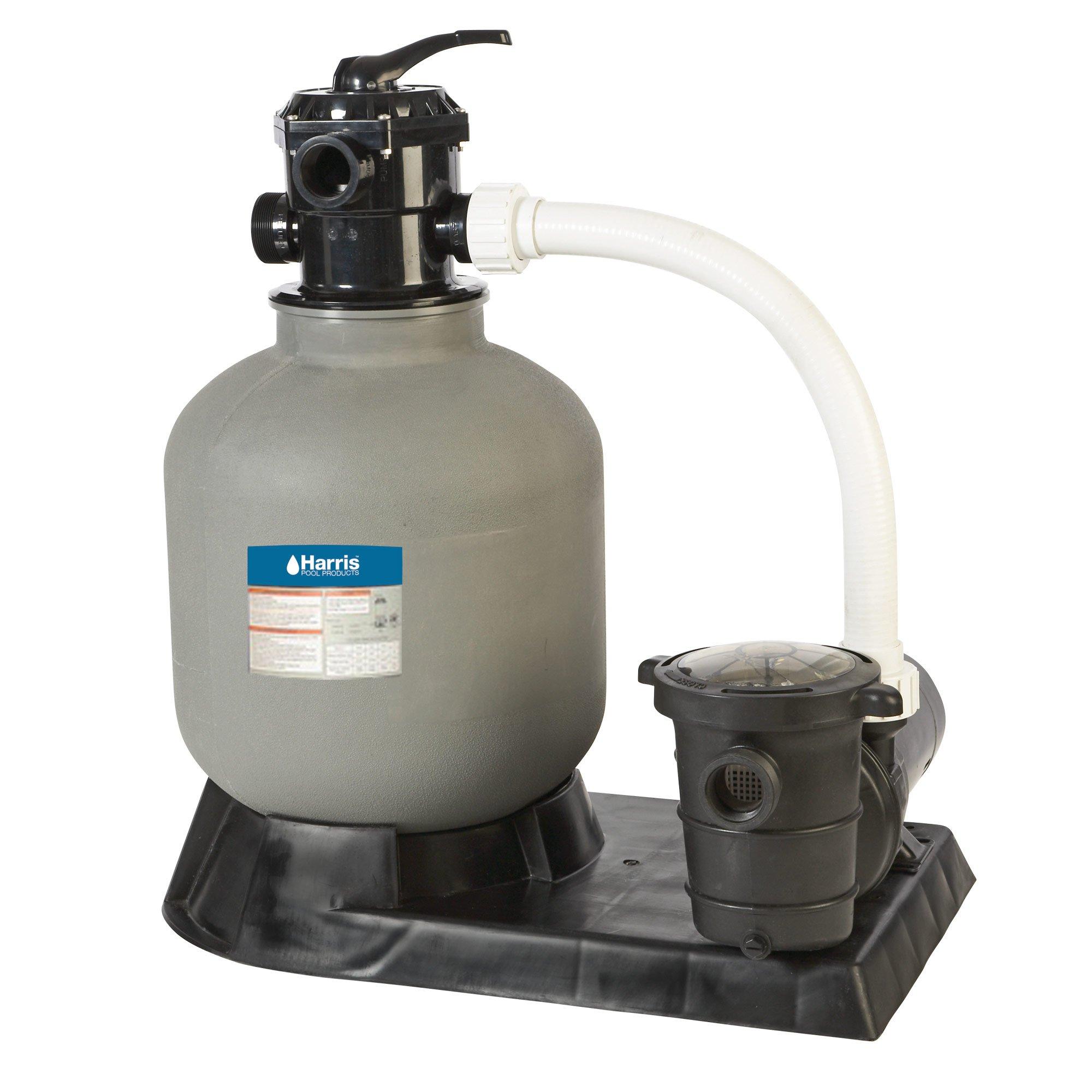 Harris H1572230 Vortex 24 inch Above Ground Sand Filter System with 1.5 HP Pump