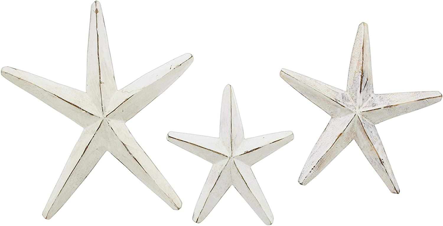 The Bridge Collection Wooden Starfish Wall/Table Decor (White)