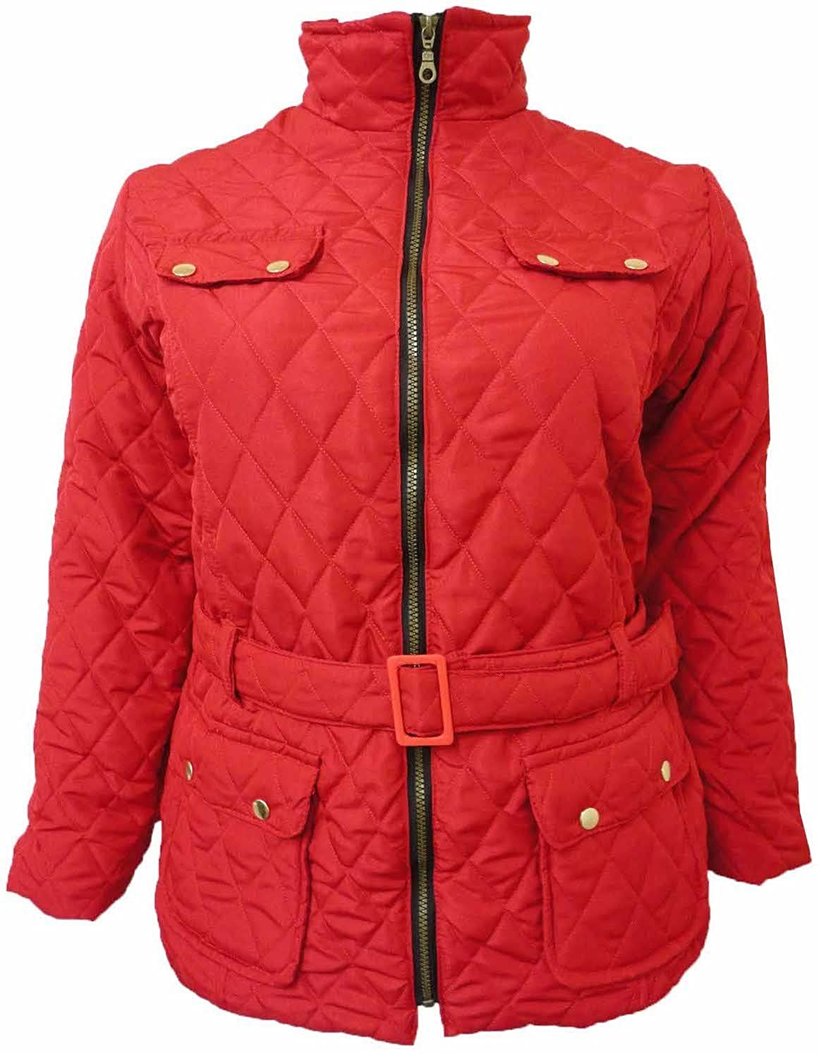 70469d68a XCLUSIVE NEW LADIES PLUS SIZE PADDED JACKETS WOMENS BELTED QUILTED COATS 18  20 22 24
