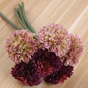 Toifucos 2 Bündel Künstliche Chrysantheme Künstliche Blume Seidenblume  Künstliche Pflanzen Für Hochzeit Büro Wohnzimmer Dekorationen,