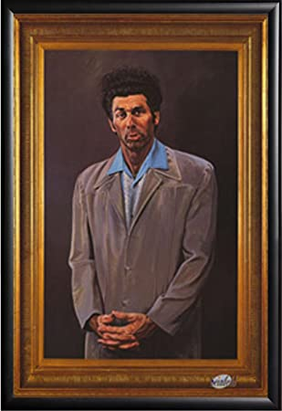 FRAMED Seinfeld – Kramer 24×36 Poster in Real Wood Premium Matte Black Finish Crafted in USA