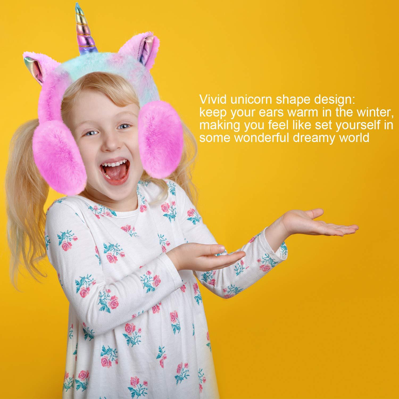 Reindeer Winter Earmuffs Cartoon Ear Plush Warm Foldable Fluffy Soft Warmers