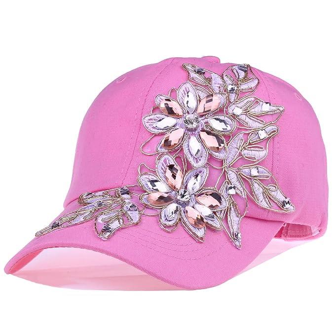 Deer Mum diseño de las mujeres de flores Gorra de béisbol verano Lady Jeans sombreros - - : Amazon.es: Ropa y accesorios