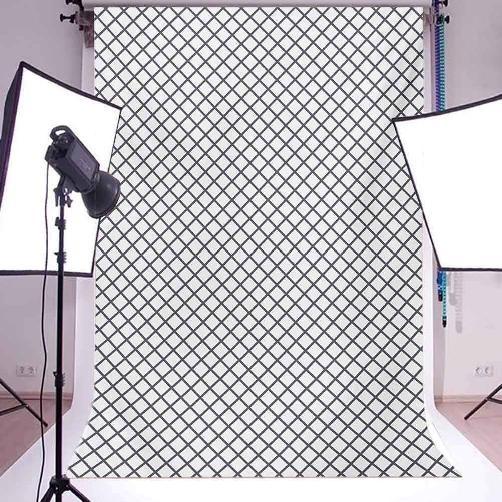 Modern 10x15 FT Photo Backdrops,Geometrical Stripes Crossing Zig Zag Basket Braid Like Image Background for Child Baby Shower Photo Vinyl Studio Prop Photobooth Photoshoot Charcoal Grey Black and WHI