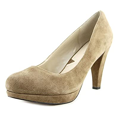 Amazon.com | ADRIENNE VITTADINI Women's Prestin Fashionable Pump Shoes Taupe Kidsuede 7.5 M US | Pumps