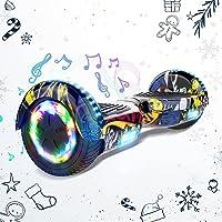HITWAY 6,5 Pulgadas Hoverboard Patinete Eélctrico Scooter Electrico Hover Scooter Board con Altavoz Bluetooth y Luces…
