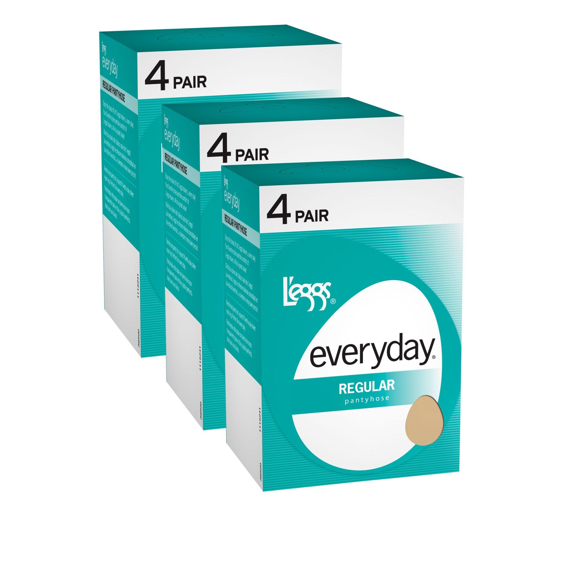 L'eggs Women`s Set of 3 L`eggs Everyday Regular ST - Best-Seller! B, Suntan