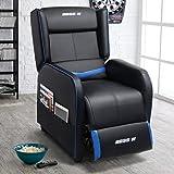 Lemberi Gaming Recliner Chair Racing Style Morden Recliner Seating Sofa Ergonomic Single Lounge Sofa PU Leather Sofa…