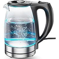 DreamHigh Hervidor de Cristal, Hervidores Eléctrico con Iluminación Led de 1,7 Litros de Capacidad, 2200 W de Potencia…