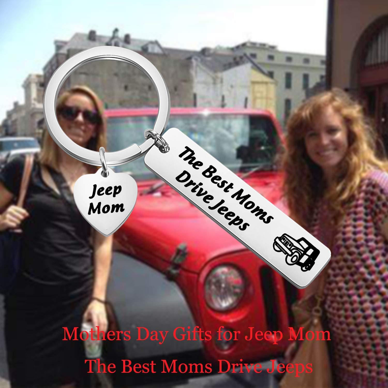 Lywjyb Birdgot Jeep Keychain Jeep Lover Gifts Jeep Mom Keychain Jeep Owner Gifts Jeepsy Soul for Mom The Best Moms Drive Jeeps Keychain