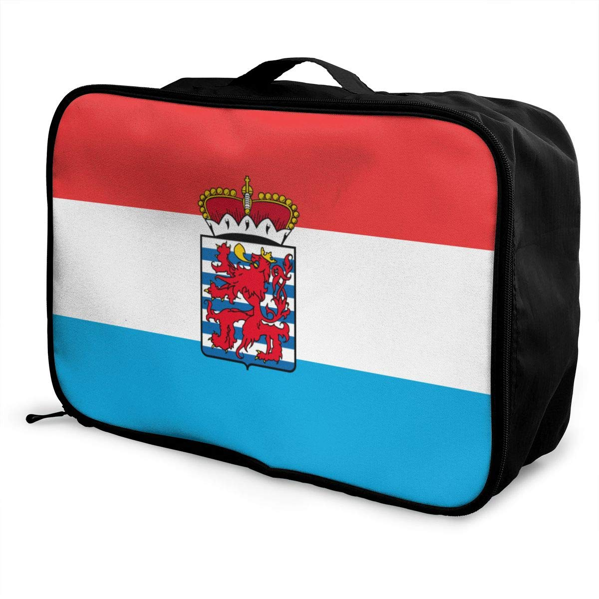 Unisex Travel Duffel Bag Waterproof Fashion Lightweight Large Capacity Portable Luggage Bag Flag Of The Province Of Luxembourg
