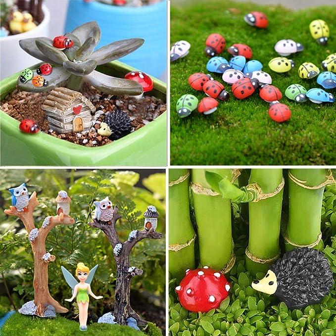 5pcs Garden Craft Lolli Fairy Ornament Miniature Figurine Dollhouse Decor /_A.AU