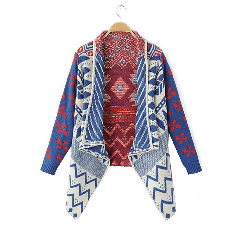 Sandistore Women Long Sleeve Knit Cardigan Sweater Coat Outwear