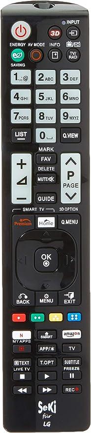 SeKi - Mando a Distancia para LG (Funciona con Todos los Dispositivos LG (TV, TV, Smart TV, DVD, LED TV y 4K), con función de Aprendizaje Adicional: Amazon.es: Electrónica