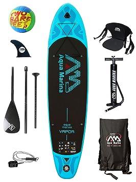 Aquamarina Vapor - Tabla de paddle hinchable de 3,3 m + bola de voleibol