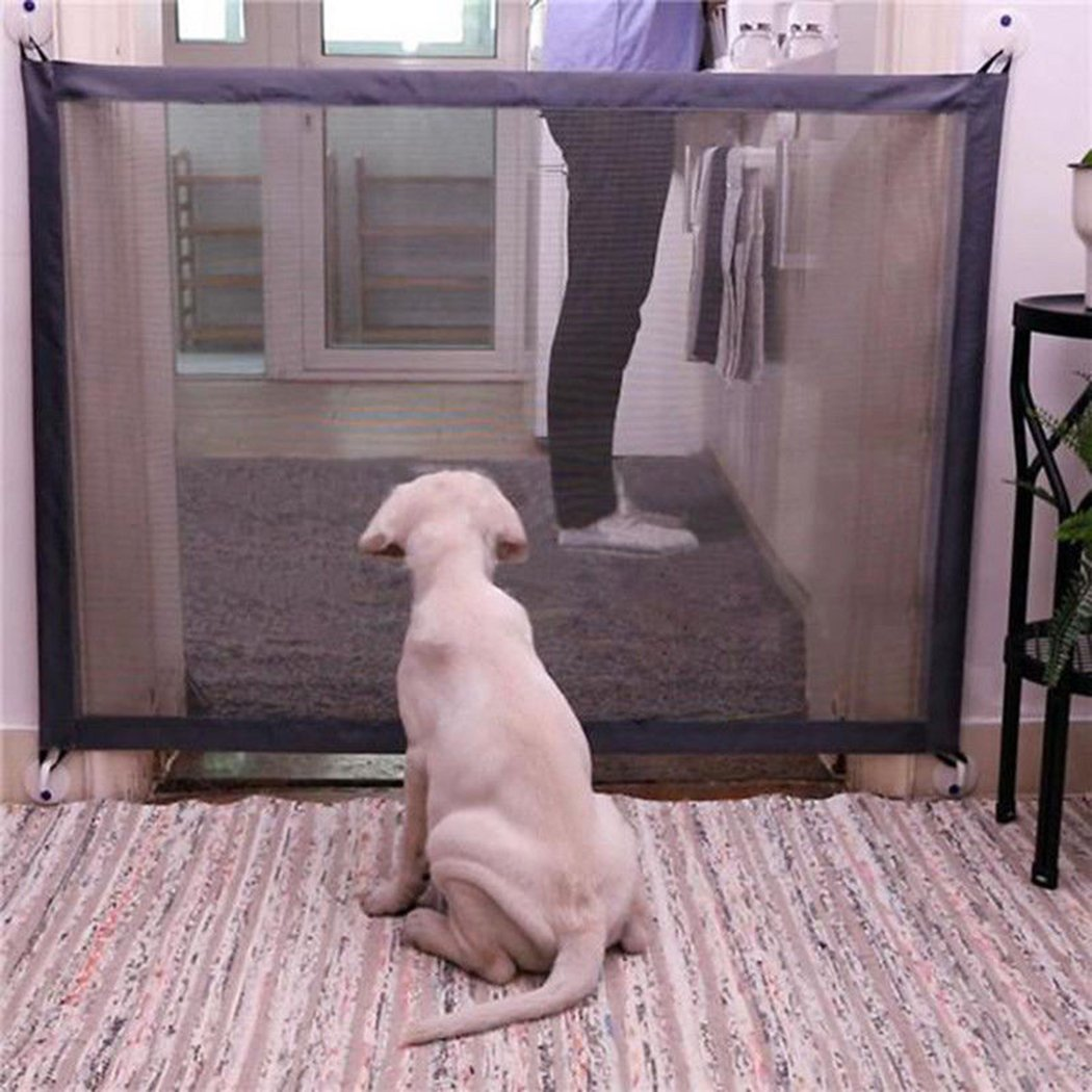 MIOIM Pet Dog Gate Safe Guard Mesh Magic Install Anywhere Pet Safety Enclosure