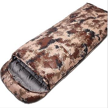 MIAO al aire libre para adultos acampar saco de dormir de plumas de camuflaje, B: Amazon.es: Deportes y aire libre