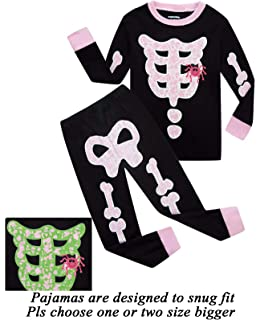 dolphinfish girls halloween pajamas kids pjs skeleton glow in the dark toddler halloween
