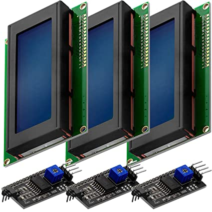 Image of AZDelivery 3 x Modulo Pantalla LCD Display Azul HD44780 2004 con Interfaz I2C 20x4 caracteres compatible con Arduino con E-Book incluido!