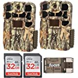 Browning Trail Cameras Recon Force 4K Edge Trail Camera, Base Bundle 2 Pack (5 Items)