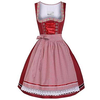 Mini tirolesa Germa en rojo de traje típico de Marjo rojo 36 ...