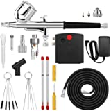 Airbrush, AGPTEK Mini Airbrush with Air Compressor, Portable Airbrush Kit for Cake Decorating, Craft Tools, Makeup, Painting