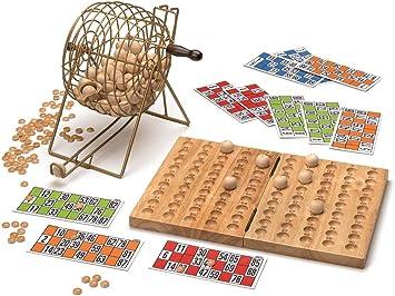Cayro - Bingo de Luxe - Juego Tradicional - Juego de Madera y Metal - Juego para niños y Adultos - Juego de Mesa (635): Amazon.es: Juguetes y juegos