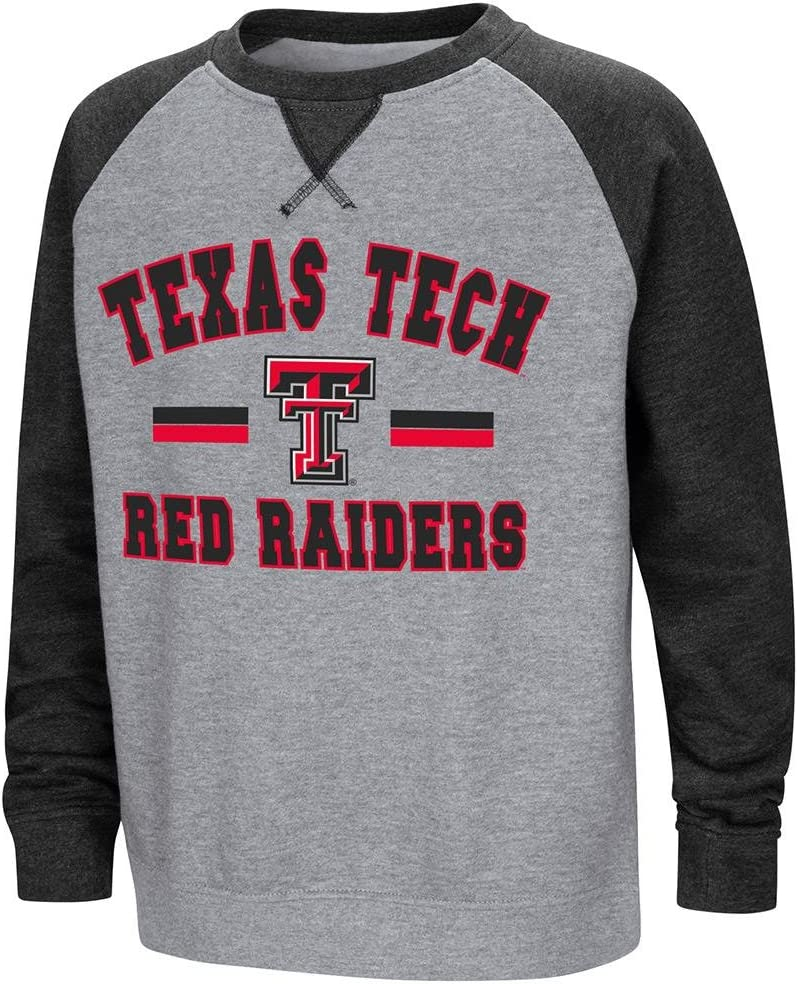Colosseum Youth Texas Tech Red Raiders Fleece Crewneck Sweatshirt