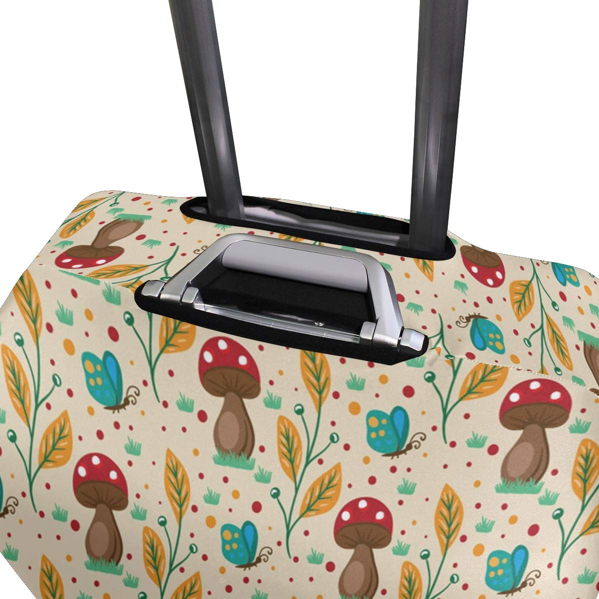 Baggage Covers Nature Mushroom Background Washable Protective Case